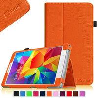 Fintie Folio Premium Vegan Leather Case Cover for Samsung Tab 4 8.0 8-Inch Tablet, Orange