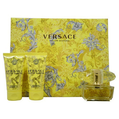 Versace Yellow Diamond By Versace For Women - 3 Pc Gift Set 1.7oz Edt Spray, 1.7oz Shower Gel, 1.7oz Body Lotion