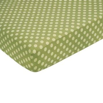 Jo Jo Designs Forest Friends Fitted Crib Sheet - Green Dot