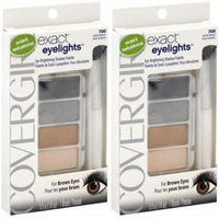 CoverGirl Exact Eyelights Eye Brightening Shadow Palette VIBRANT BROWNS #700 (PACK OF 2 PALETTES)