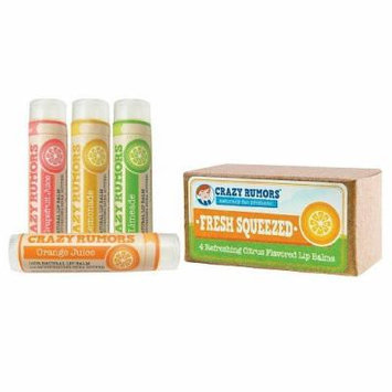 Crazy Rumors Juice Collection - Natural Balm 4 Pack Gift Set 1 set