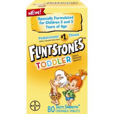 Flintstones Toddler Chewable, 80 CT (PACK OF 3)