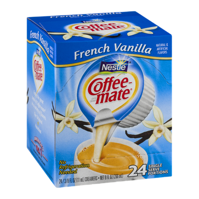Nestlé Coffee-Mate Coffee Creamers French Vanilla - 24 CT