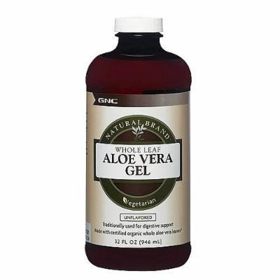GNC Natural Brand Aloe Vera Gel, Unflavored 32 fl oz (946 ml)
