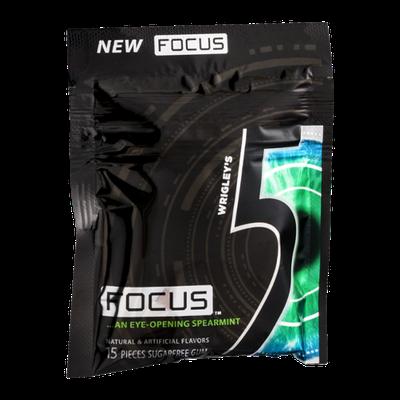 Wrigley's 5 Focus Sugarfree Gum Focus Eye-Opening Spearmint - 15 CT
