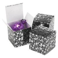 Hortense B. Hewitt Foil Favor Box - Black/Silver