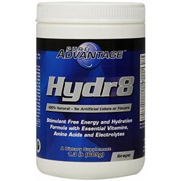 Pure Advantage Hydr8 Stimulant Free Dietary Supplement, Grape, 1.3 Pound