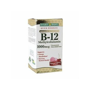 Nature's Bounty Methylcobalamin Vitamin B-12 1000 mcg 60 ea