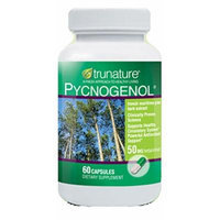 TruNature Pycnogenol 50 mg - French Maritime Pine Bark Extract, Powerful Antioxidant Support - 60 Banded Capsules