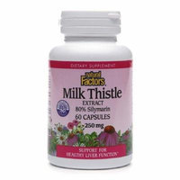 Natural Factors Milk Thistle Extract, 250mg 60 capsules