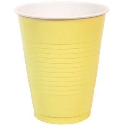 Party Dimensions 81362 18 Oz Solid Yellow Coex Cup Display Box - 768 Per Case