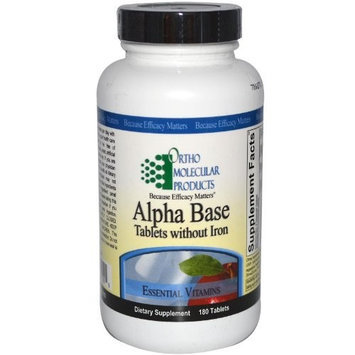 Ortho Molecular alpha-base-tablets-wo-iron-180-tablets-by-ortho-molecular-products