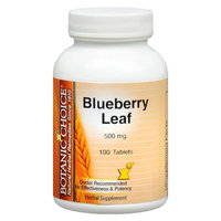 Botanic Choice Blueberry Leaf 500 mg Herbal Supplement Tablets