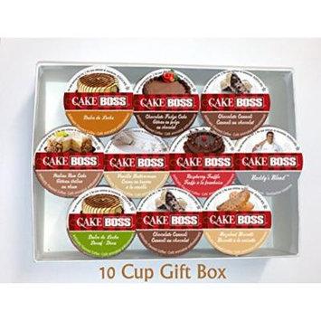 10 Cup Cake Boss® Coffee GIFT BOX Sampler! New Flavors! Chocolate Cannoli, Italian Rum Cake, Raspberry Truffle+ Perfect GIFT!