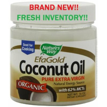New Nature's Way Organic Coconut Oil 16 Oz Tub Coconut Oil-extra Virgin