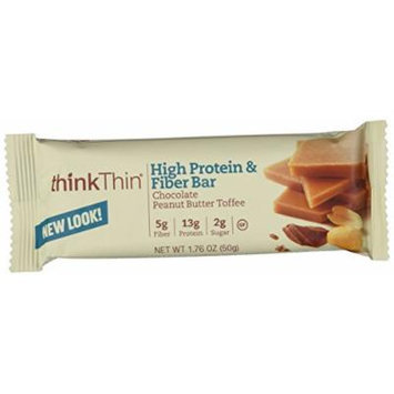 Think Thin 20 Pack (2 X Box of 10)- (Fiber Chocolate Peanut Butter Toffee)