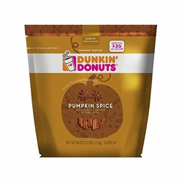 Dunkin Donuts Pumpkin Spice Ground Coffee 40 oz