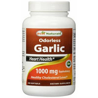 Best Naturals Odorless Garlic 1000 mg 240 Softgels