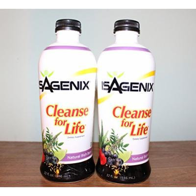 2 Isagenix - Cleanse for Life 32 Oz Bottle (Natural Rich Berry Flavor)