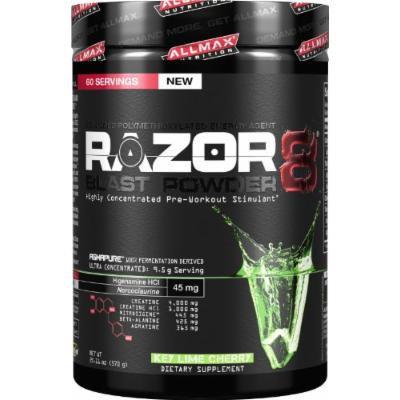 Allmax Nutrition NEW 2014 Razor8 Pre-workout (DMAA FREE) 60 Servings (Key Lime Cherry) 20.11oz