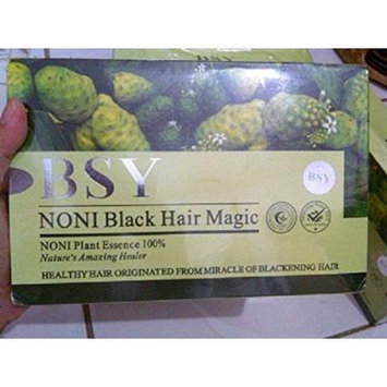 20 X Sachet Original BSY Noni Black Hair Magic New Packaging #H007