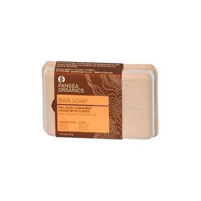 Pangea Organics Bar Soap, Malagasy Cinnamon Cassia With Cloves, 3.75-Ounce Box