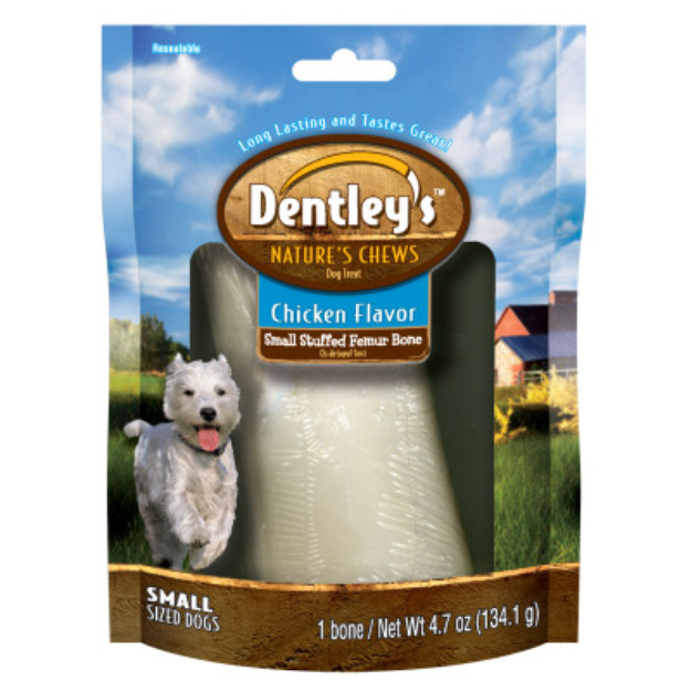 Dentley'sTM Nature's Chew Stuffed Femur Bone Dog Treat