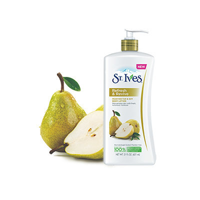 NEW St. Ives® Refresh & Revive Pear Nectar & Soy Body Lotion