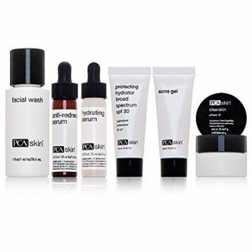 PCA Skin The Sensitive Oily Skin Solution Kit Trial Size 5 Piece