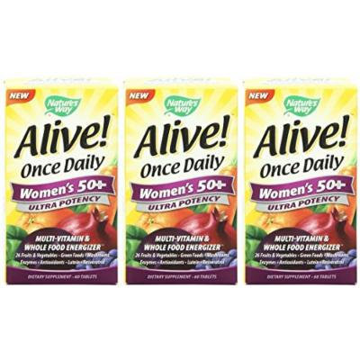 Nature's Way Alive Once Daily Women's 50+ 60 Tablets (3 Pack)