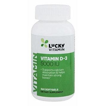 LuckyVitamin - Vitamin D-3 5000 IU - 365 Softgels