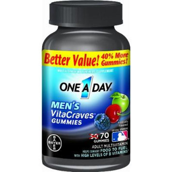 One A Day Men's Vitacraves, 70 Count (pack of 2)