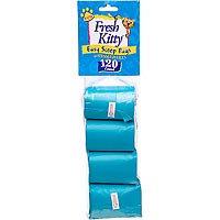 Fresh Kitty Litter Box Organizer Refill Cat Bags (120 Pack)