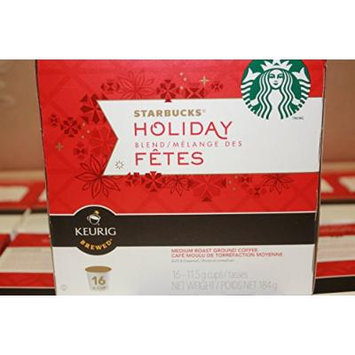 (Pack of 16) K-cups Starbucks Holiday Christmas Blend Medium Coffee