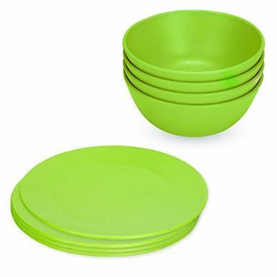 Green Eats Snack Plates & Snack Bowl Set, Green