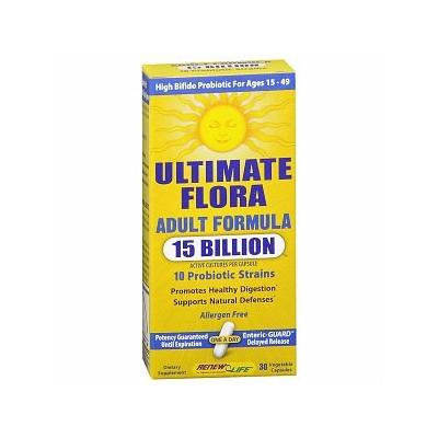 ReNew Life Ultimate Flora Adult Formula 15 Billion, Vegetable Capsules 30 ea