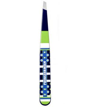 Tweezerman Cynthia Rowley Designer Series Foulard Slant Tweezer - Dark Blue