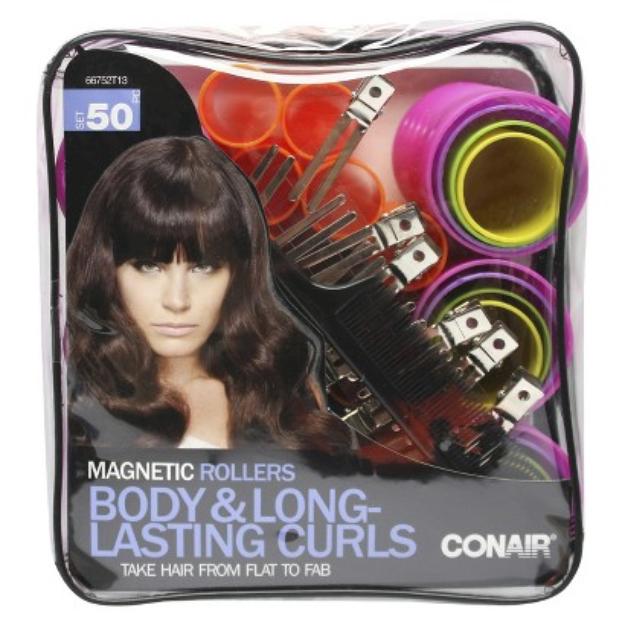 Conair Body & Long-Lasting Curls Magnetic Hair Rollers - 50 Count