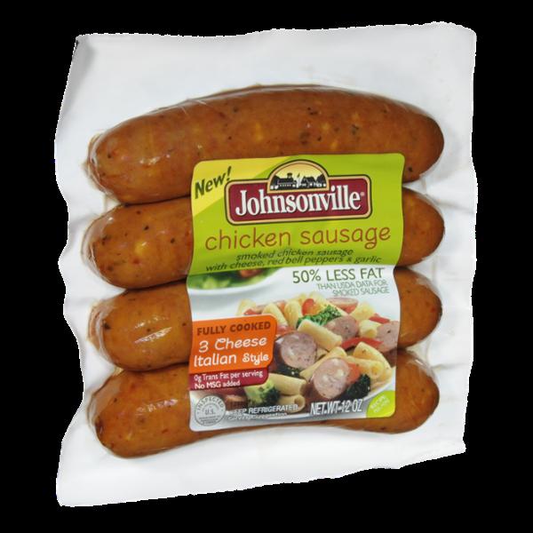 Johnsonville Chicken 3 Cheese Italian Style Sausage