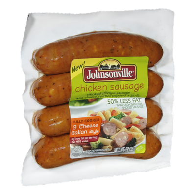 Johnsonville Chicken 3 Cheese Italian Style Sausage