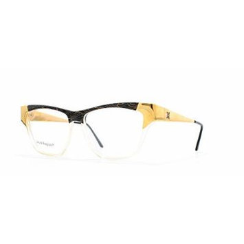 Laura Biagiotti V94 46V Black and Gold Authentic Women Vintage Eyeglasses Frame