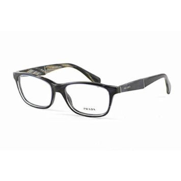 Prada Optical Eyeglass Collection VPR14P in Blue Horn 53mm ; DEMO LENS