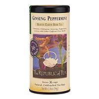 The Republic Of Tea Ginseng Peppermint Herbal Tea, 36 Tea Bags