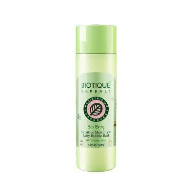 Biotique Bubble Bath Bio Berry 100% Soap Free Sensitive Mommy & Baby Bubble Bath 120ml