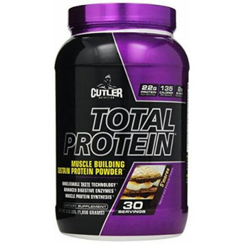 Cutler Nutrition Total Protein Muscle Building Sustain Protein Powder, S'mores, 2.3 Pound