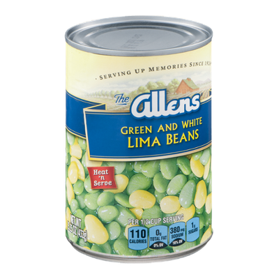 The Allens Green and White Lima Beans