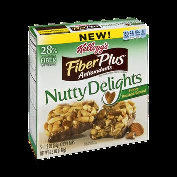 Kellogg's FiberPlus Antioxidants Nutty Delights Honey Roasted Almond Chewy Bars - 5 CT