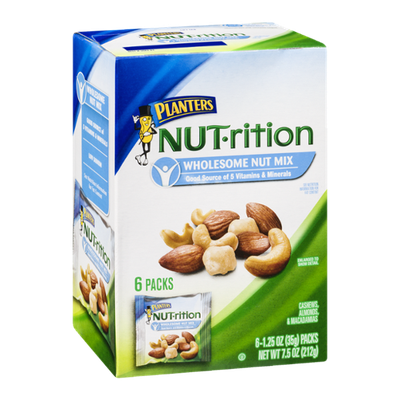 Planters NUT-rition Wholesome Nut Mix - 6 CT