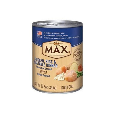 Nutro MAX Weight Control Chicken, Rice and Vegetable Dinner Canned Dog Food