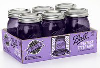 Ball 6 Pack 1 Pint Colored Mason Jars - ALLTRISTA CORPORATION